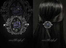 Deadly Rose Hologram Hairclip by Euflonica