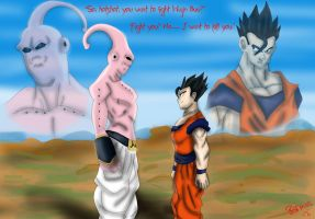 You want to Fight Majin Buu? by The-B-Meister