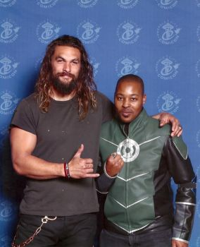 Me and Aquaman ECCC 2017 by Lockheart23