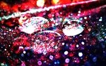 Glitter Water Drop Wallpaper/Background by Yvesia