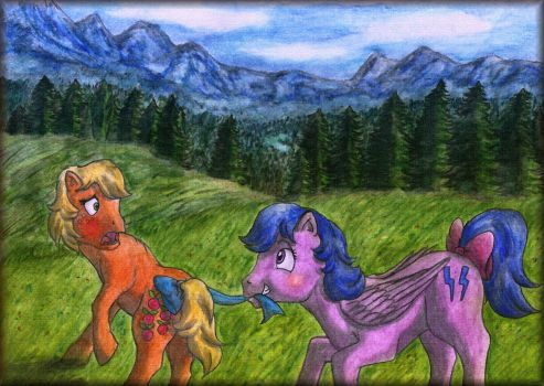 Applejack and Firefly by elfman83ml