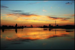 Bremen Harbor Sunset 7 by mar1anm