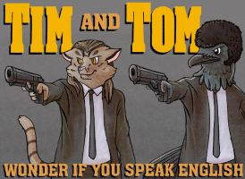 [BADGE] Tim and Tom: Pulp Fiction by BriMercedes