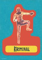 Kriminal Sticker Trading Card by Hartter