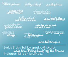 Song Lyrics Brush Set 02 by geekluvinskater