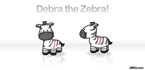Debra the Zebra by JinxBunny
