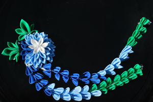 Something Blue. Kanzashi. by hanatsukuri