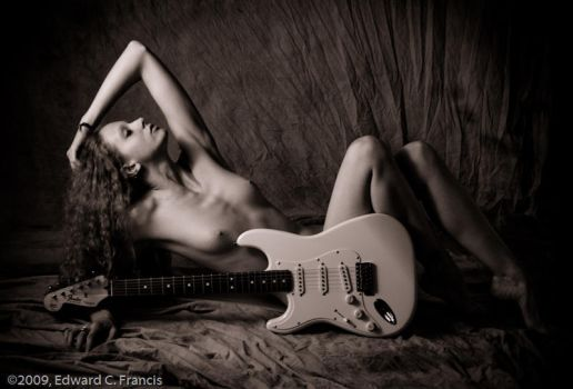 Reposed with Guitar I by Artistic-Nudes-Club