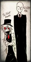 Scissor Mouth And SlenderMan by DJambersky666
