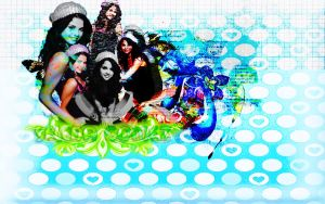 Sel Gomez Wall by AnelEditons