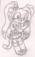.:Laury Rosa the Hedgecat Sketch:. by CreamPuff-Pikachu