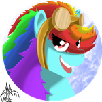 Rainbow Dash Fashion Pin by ArwingPilot114