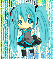 Chibi Miku Colored by kayzel11
