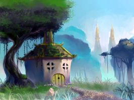 background painting by johantri