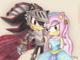 Sir Lancelot And Nimue (Lady Of The Lake) by Daidolly