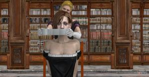 maid jill gagged 1 by GGX-444