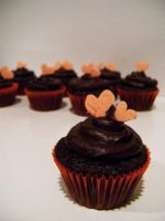 Mini Dark Chocolate Cupcakes by Stephanefalies
