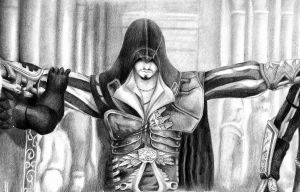Ezio, the Master Assassin by Invader-Shi
