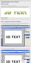 Photoshop 3D Text Tutorial by ArtoriusGothicus