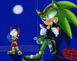 Zonic VS Scourge by jadenyugi9