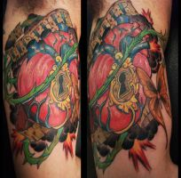 sacred heart tattoo by mojoncio