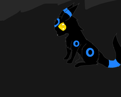 Shiny Chibi Umbreon by Dragoonroot