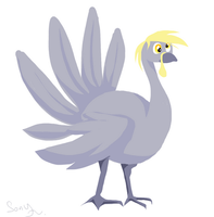 derpy turkey by canarycharm