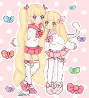 Kikiyo and Annabell in Kawaii Sailor Uniform by Tokyo-Dollie