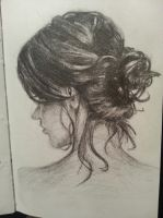 my drawing of a messy bun by kimberlyycious