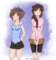 Aoko and Ran by RedRegret