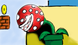 Hungry Piranha Plant by SpiderCVIII