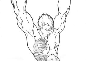 Alpha Red commish preview by Sakuseii