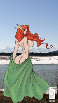 Cheeky Elf by jollyjack, colored by me. by BarryWoods