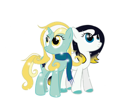 Comission: Glow Frost and Stardust by Spectty