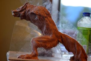Werewolf Sculpture by Tygarii-Razil