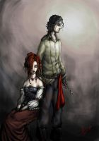 Sweeney Todd and Miss Lovett by troubadour93