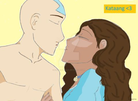 Just one kiss-colored by Kataang-crazy
