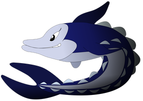 My fourth vector of a, Sturgeon. by Flutterflyraptor