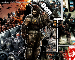 Gears of War - Dom Wallpaper by Candido1225