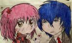 Amu and Ikuto by ayousif