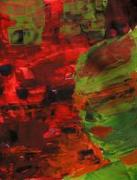 Green and Red Abstract by soffl