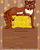 :COM: oOCinnamonOo Journal Skin by Metterschlingel