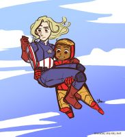 Captain Monday and Iron Foyle by elleskinner