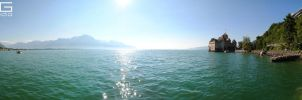 Montreux, Switzerland panorama 2 by lg-studio