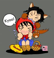 Luffy Ver.Little red riding hood Kyaaa!!! by berryjang