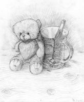 No1.:Cup and teddy by NitoryuSora