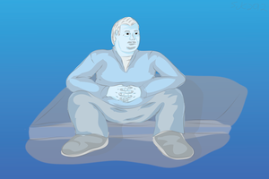 Free Figure Sitting by coinoperatedbear