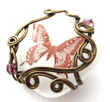 Butterfly...Garden Pendant by sojourncuriosities