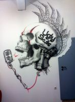 Ugly Skulls Mural by linkerart
