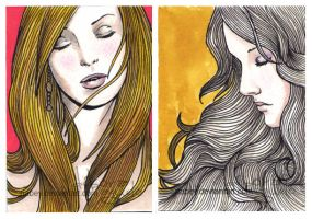 ACEO cards - colors II by nabey